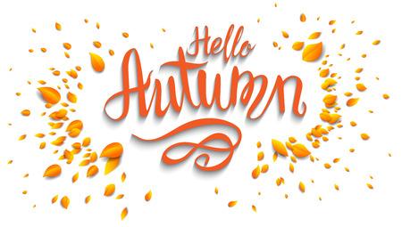 Autumn leaves modèle de carte pour la bannière de la conception, billet, dépliant, carte, affiche et ainsi de suite.