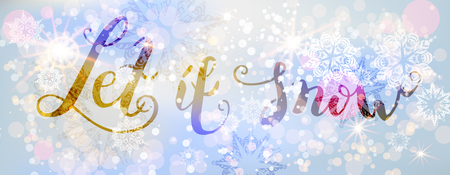 Christmas fesive snowflakes background for holiday invitation or card. Holiday background for design banner, ticket, leaflet and so on. Illustration