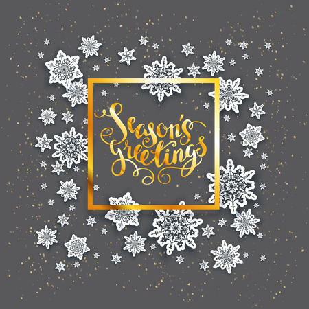 shine: Christmas fesive snowflakes for holiday invitation or card. Holiday for design banner, ticket, leaflet and so on.