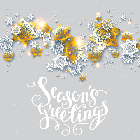 page layout: Christmas fesive snowflakes for holiday invitation or card. Holiday for design banner, ticket, leaflet and so on.