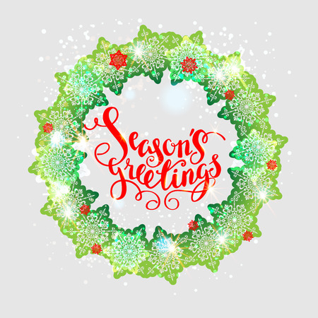 festive background: Christmas fesive snowflakes background for holiday invitation or card. Holiday background for design banner, ticket, leaflet and so on. Illustration