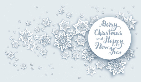 festive: Christmas fesive snowflakes for holiday invitation or card. Holiday for design banner, ticket, leaflet and so on.