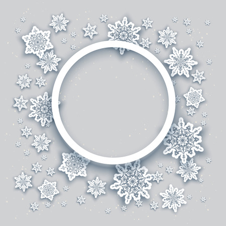 greeting season: Christmas fesive snowflakes background for holiday invitation or card. Holiday background for design banner, ticket, leaflet and so on. Illustration