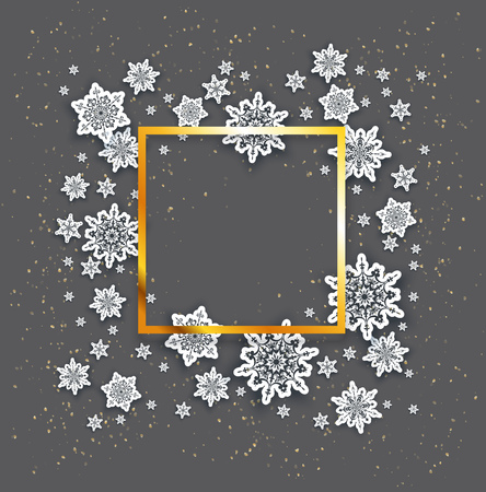 festive: Christmas fesive snowflakes background for holiday invitation or card. Holiday background for design banner, ticket, leaflet and so on. Illustration