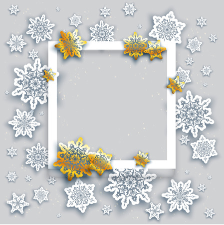 christmas backgrounds: Christmas fesive snowflakes background for holiday invitation or card. Holiday background for design banner, ticket, leaflet and so on. Illustration