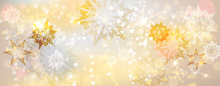 page layout: Christmas fesive snowflakes background for holiday invitation or card. Holiday background for design banner, ticket, leaflet and so on. Illustration