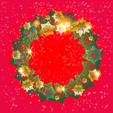 christmas celebration: Winter ornamental snowflakes background for holiday invitation or card. Holiday background for design banner, ticket, leaflet and so on.