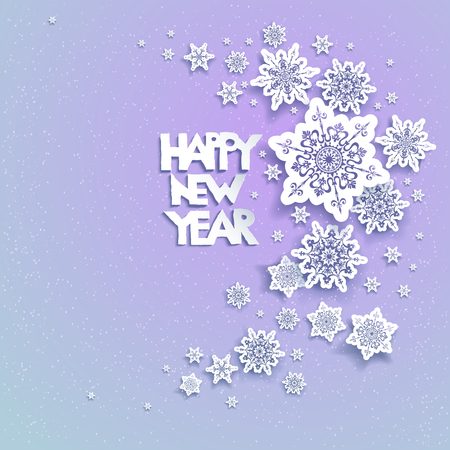 simple frame: Snowflakes holiday Christmas for banners, advertising, leaflet, cards, invitation and so on. Illustration