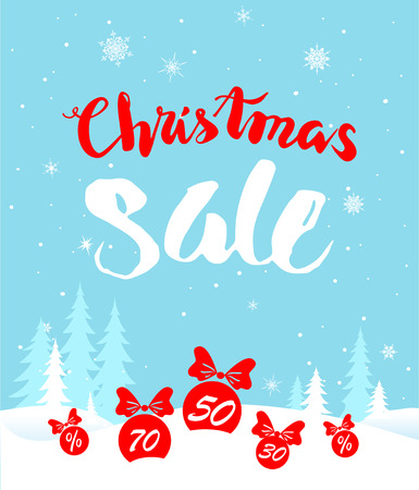 big: Big Christmas sale. Seasonal sale background for banners, advertising, leaflet, cards, invitation and so on.