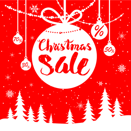 greeting season: Big Christmas sale. Seasonal sale background for banners, advertising, leaflet, cards, invitation and so on.