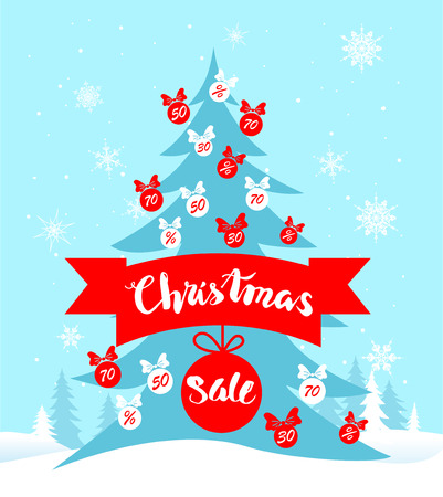 page layout: Big Christmas sale. Seasonal sale background for banners, advertising, leaflet, cards, invitation and so on.