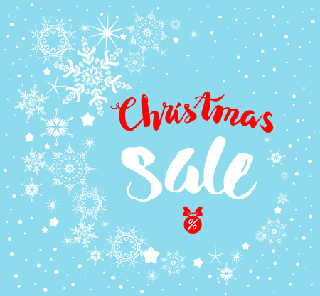 symbol: Big Christmas sale. Seasonal sale background for banners, advertising, leaflet, cards, invitation and so on.