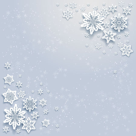 fiambres: Snowflakes holiday Christmas background for banners, advertising, leaflet, cards, invitation and so on.