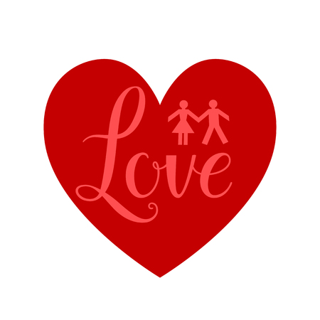 forme: signe rouge coeur Illustration