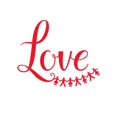business people: Love lettering isolated