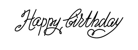 decoration: Hand drawn lettering Stock Photo