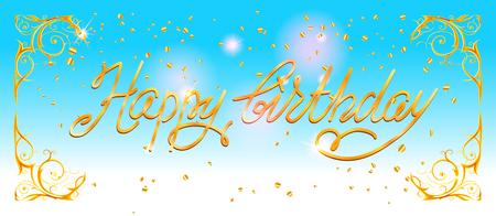holiday party: Happy birthday card Stock Photo