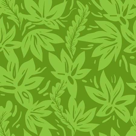 cover: Green seamless pattern Illustration