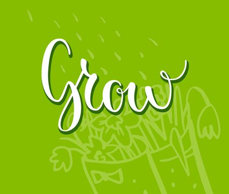 Grow lettering card