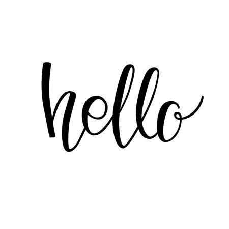 Hello black lettering
