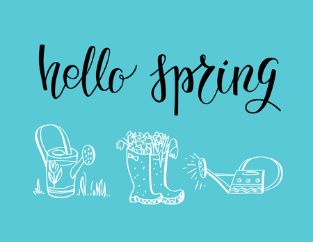 Hello lettering card