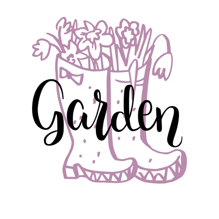 Garden lettering card