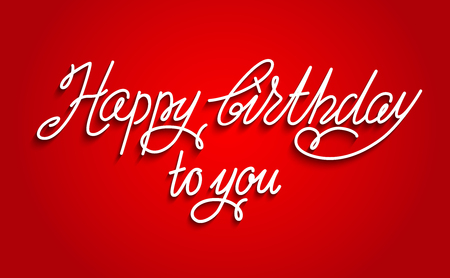 shiny: Holiday template for design banner,ticket, leaflet, card, poster and so on. Happy birthday lettering.