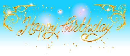 Happy birthday holiday card