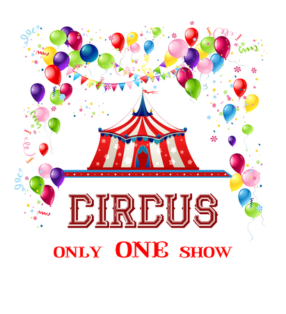 Holiday template for design banner, ticket, leaflet, card, poster and so on. Circus holiday background.