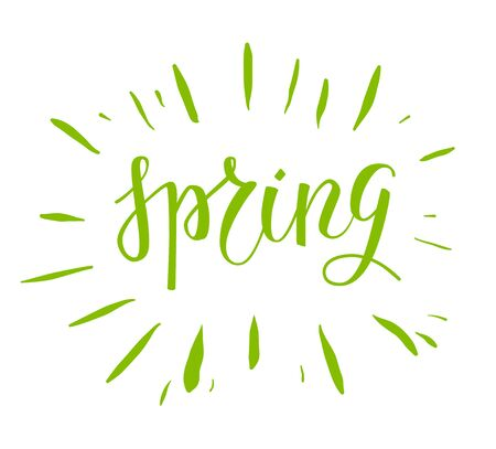 graphic: Spring green lettering