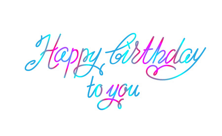 Happy birthday lettering sign