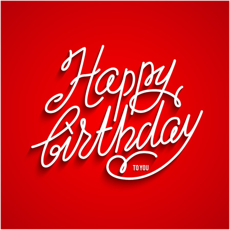 entertainment event: Happy birthday lettering Illustration