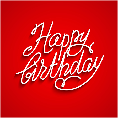 festive background: Happy birthday red lettering