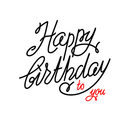 shiny background: Happy birthday lettering Illustration