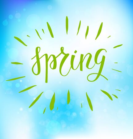 spring blue backdrop