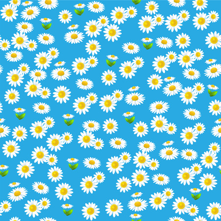 green environment: Blue floral seamless pattern