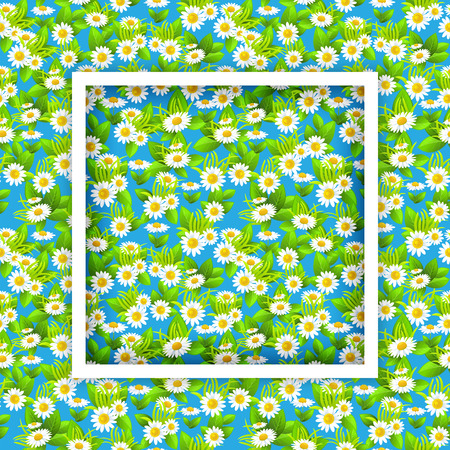 Marco estacional floral