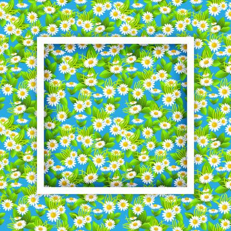 Floral seasonal frame