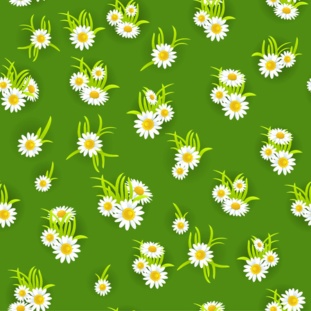 happy holidays: Green floral seamless pattern