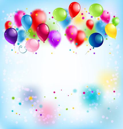 holiday party: Blur happy birthday card Illustration