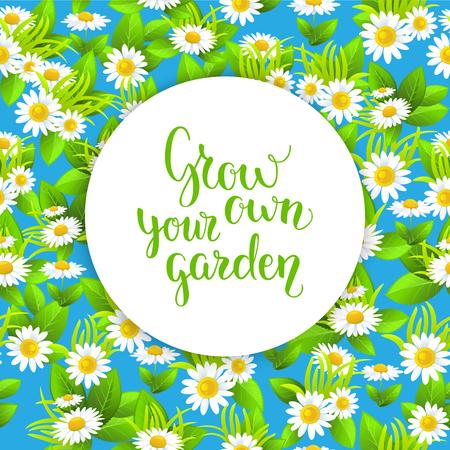 Blue garden seamless pattern