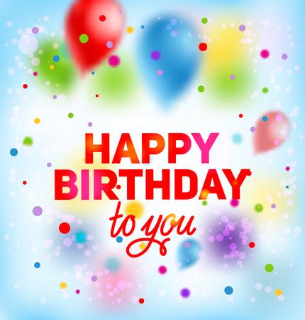Card happy birthday Illustration