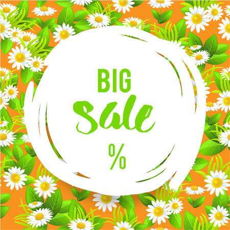 Floral big orange summer sale