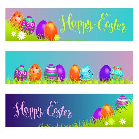 greeting season: Holiday banners Easter