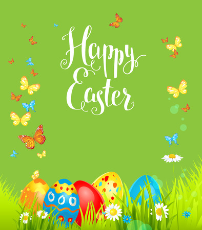 page layout: Positive easter background