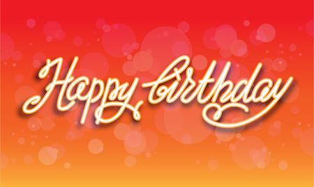 celebration party: Orange hand drawn lettering