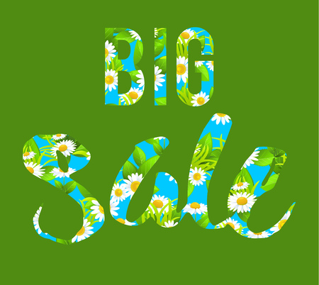 tranquil: Big green sale lettering
