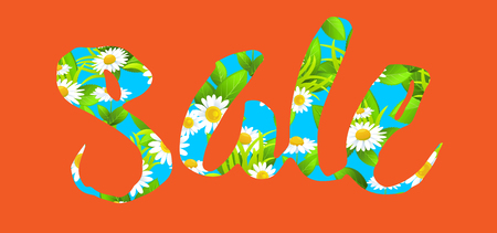 Big orange sale lettering