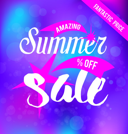 stars: summer sale card