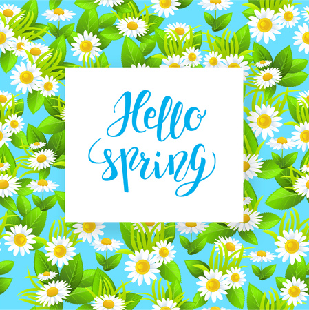 greeting season: Floral spring card